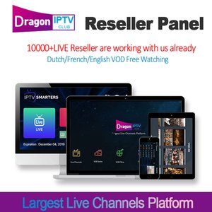 Wholesale Global IPTV Reseller control panel with credits Live VOD IPTV Serve For Android TV Box Phone M3U UK USA France Dutch europe iptv