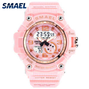 Wholesale SMAEL Woman Watches Sports Outdoor LED Watches Digital Clocks Woman Army Watches Military Big Dial Women Watch Waterproof