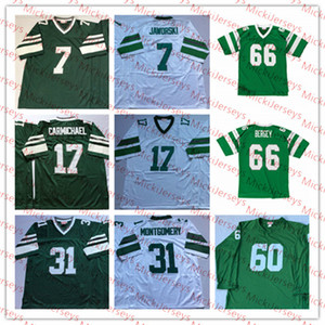 Men NCAA Vintage 7 Ron Jaworski 17 Harold Carmichael 31 Wilbert Montgomery 66 Bill Bergey Football Jersey 60 Chuck Bednarik Jersey