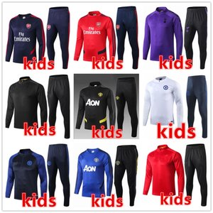 Wholesale kids soccer tracksuit kids soccer training suit Survêtement de football tracksuit jogging kids jackets chandal futbol