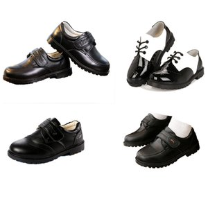 Kids Boy Leather Shoes Hook Strap Patent Leather Boys Shoes Letter Printed Ceremony Peform Shoes Party Casual Footwear 4-14T on Sale