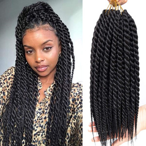 18inch Havana Twist Crochet Hair Havana Mambo Twist Crochet Braids Jumbo Senegalese Twist Synthetic Crochet Braiding Hair Extensions