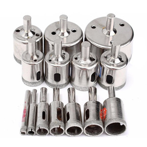 15pcs Diamond tool drill bit hole saw set for glass ceramic marble 6mm-50mm New on Sale
