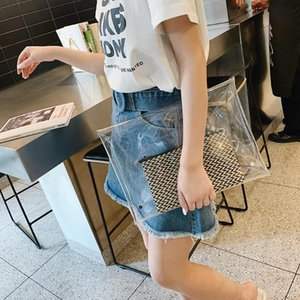Wholesale Transparent Fashion Designer Unisex PVC Envelope Clutch Clear Color Bag Handbag Evening Party Handbag Women Purse Dropshipping