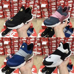 Wholesale New Airs Huarache 6 6s Running Shoes for Children Boys Girls Sneakers Triple Blue Black Huaraches Trainers Baby Toddler Athletic Shoes