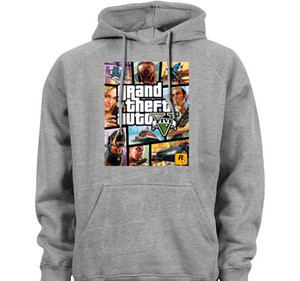Wholesale GTA Grand Theft Auto V Gaming video game Men Unisex Hoodies Sweatshirts Casual Apparel Novelty Fashion classic Outerwear Hoody