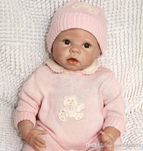 "Collec 22"" Reborn Baby Girls Toy Silicone Vinyl Newborn Lifelike Baby With Clothes Brown Eyes Mohair Very Cuted on Sale"