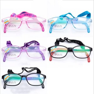 Wholesale Kids Silicone Glasses Fashion Frame Elastic Cord Children Eyewear Frame With Head Band Cord Candy Color Eyeglasses Driver Eyewear LT1275