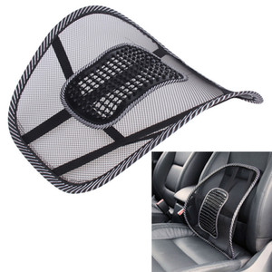 Wholesale Office Chair Car Seat Cover Sofa Cool Massage Cushion Lumbar Back Waist Brace L Mesh Fabric Back Brace Support Office Home Back Waist Brace