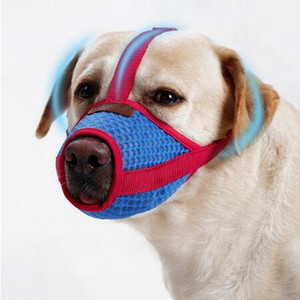Wholesale Adjustable Mesh Breathable Small Large Dog Mouth Muzzle Anti Bark Bite Chew Dog Muzzles Training Products Pet Accessories