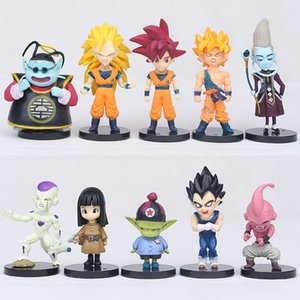 10pcs set 5-10cm Dragon Ball Z Action Figures Toys cartoon PVC Figures kids collection gift Dolls model home deocr FFA1733