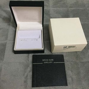 Wholesale Luxury Unique Design High Quality MB Black cufflinks Box with Service Guide Book Classic Style as gift