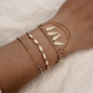 Wholesale 2019 New Matte Gold Color Coin Charm Bracelets for Women Fashion Jewelry Luxury Gold Color Bracelets Female Gift