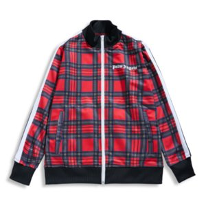 Wholesale Mens Designer Sweathshirt for Street Wear Jackets for Couple Coat Casual Plaid Jacket Fashion Tops Men Clothes Trendy Unisex Clothing