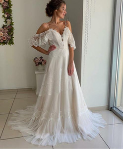 Wholesale 2019 Spring Vintage Wedding Dress for Maternity Bridal Gowns Vestido De Noiva Strqpless French Lace Wedding gowns