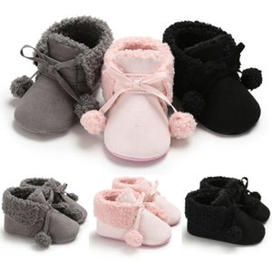 Wholesale Newborn Baby Toddler Shoes Fashion Cotton Warm Snow Boots Infant Boy Girl Soft Sole Crib Shoes Cute Lace Up Prewalker M