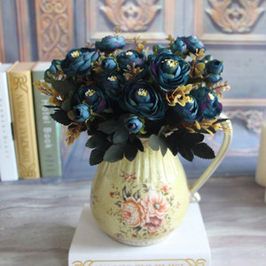 Wholesale Artificial Flower Fake Peony Vivid Head Autumn Home Room Bridal Hydrangea Decor A