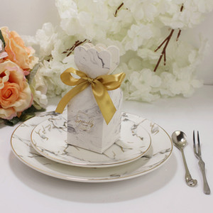 Wholesale giveaways box resale online - Wedding Favor Box Craft Paper Christening Party Giveaway Gift Cake Candy Bag x