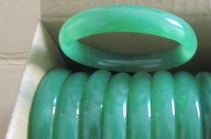 Wholesale Natural agate ring NEW Genuine Natural Multicolor Jade Lucky Bracelet Round Handmade Bangle Jade Bangles