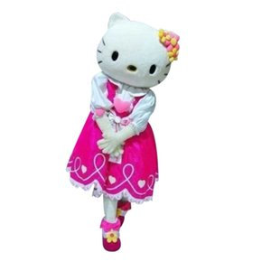 Wholesale Hello Kitty Cartoon Fancy Dress Mascot Costume Adult Suit Express
