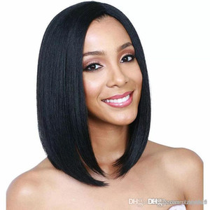 Women's Black Short Wavy Curly High Temperature Fiber Full Wig Wig Hair Synthetic Wig Cosplay Costume