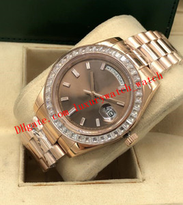 Wholesale platinum gold diamond for sale - Group buy Latest Version Style Mens PLATINUM MM Ice Blue Diamond Bezel Dial Automatic Fashion Men s Watches Wristwatch