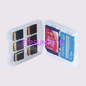 New 8 in 1 White Plastic Case Box For TF Micro SD Memory Card for SDHC TF MS Protector Holder High Quality