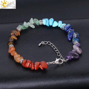 Wholesale colorful gemstones resale online - Natural Stone Bracelets for Women Handmade Crystal Gemstone Irregular Colorful Gravel Bracelet Fashion Jewelry Accessories