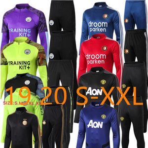 Wholesale 2019 POGBA Football tracksuit Survetement ALEXIS LUKAKU de foot LINDELOF UNITED RASHFORD jacket Training suit Sportwears set