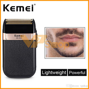 Kemei KM-2024 Electric Shaver for Men Razors Twins Blade Waterproof Reciprocating Cordless Razor USB Shaving Machine Beard Trimmer