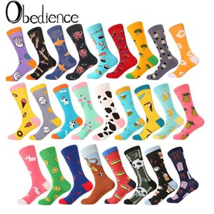 Wholesale Creative High Quality Fashion men and women socks cotton funny crew cartoon animal fruit print novelty gift socks new fashion