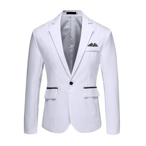 Wholesale Fashsiualy Brand Mens Vintage Blazer Coats Casual Solid Blazer Business Wedding Party Outwear Coat Suit Tops
