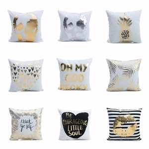 2019 Creative Pattern Super Soft Pineapple Love Letters Bronzing Silver Cushions Pillow And Linen Cushions Pillow Home Decor