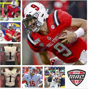 Wholesale Custom Ball State Football Jersey College Drew Plitt Caleb Huntley Riley Miller Antwan Davis Justin Hall Yo Heinz Tyler