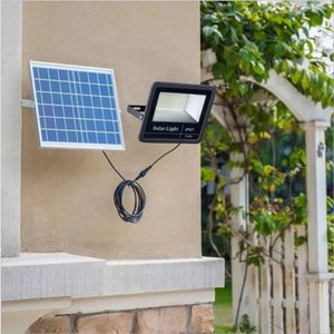 LED Solar Powered Lights Remote Waterproof Wall Lamp Sensor Display LED Floodlight Outdoor Street Garden Yard Path Security Lamp 60w LT1065