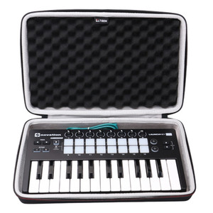LTGEM EVA Hard Case for Novation Launchkey Mini 25-Note USB Keyboard MK2 Controller - Travel Protective Carrying Storage Bag
