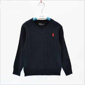 Wholesale 2019 New Arrivals Baby Boys Girls Knitted Pullover Sweaters Brand Clothes Children POLO Sweater Spring Autumn Kids Sweatshirt