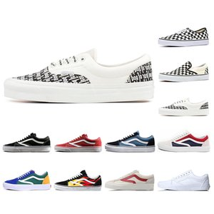 Wholesale ORINAL Designer Mens Womens Canvas Sneakers Triple Black White YACHT CLUB Fear of God Era Skate Casual Shoes