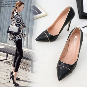 Pretty2019 Snake Wind Piping Shallow And Thin Women's Shoes 40 Code High With Single Shoe