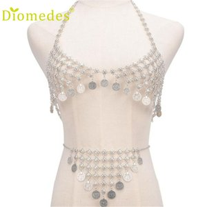 Wholesale Very very sexy Retro set Bra Body Coin Pendant Necklace Chain Bikini Set Sleeping jewelry Chain Gift for lovers motion of men