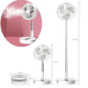5 in 1 Multifunctional Telescopic Foldable Fan Mini USB Fan Spray Refrigeration Electric Fans 4 Gears Adjustable Wind Power for home outdoor