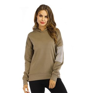 ingrosso adolescenti ragazze abbigliamento-Designer manica Pocket Womens Hoodies Via Hiphop Stili Pullover con cappuccio a maniche lunghe Teenager Girl Fashion Clothes