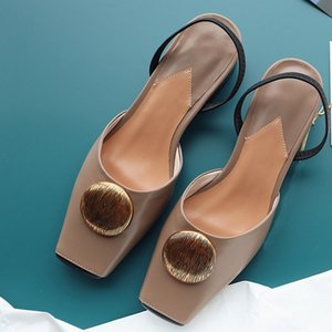 Wholesale New Fashion Summer Genuine Leather Shoes Women Shallow Sandals Sweet Comfortable Date Shoes Dress Party Casual Sandals