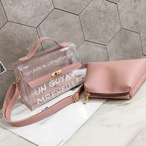 Summer Bag Girl 2019 new fashion transparent mother Korean version 100-band handbag shoulder simple oblique Bag on Sale