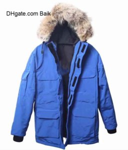 New Arrival Top Copy Canada MEN Snow Mantra JACKET COAT Black Navy Jacket Winter Down Parka Fur With Free Shipping Clothing Hooded Parkas