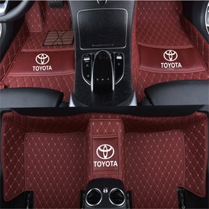 Suitable for Toyota RAV4 Five seats 2006-2019 car mat luxury surrounded indoor waterproof leather carpet stitching mat on Sale