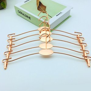 Wholesale Rose Gold Metal Clothes Hanger with Clothespins Clip Bra Underwear Lingerie Panties Drying Rack Hanger Hook