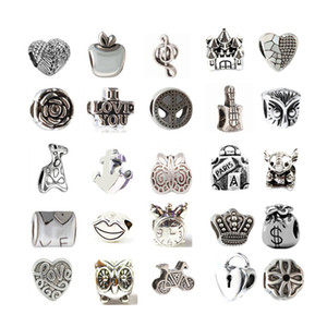 Mix At Least 33 Style Alloy Charm Bead Fashion Jewelry European Style For Pandora Bracelet Promotion
