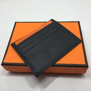 Wholesale Fashion Classic Design Casual Credit Card Id Holder Real Leather Ultra Slim Wallet Packet Bag For Men Women High Quality
