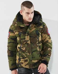 Wholesale High quality men's cotton coat winter thick camouflage cotton clothing European and American cotton men's jacket